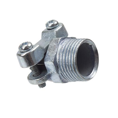 Galvanised conduit cable clamp [PLU9153]
