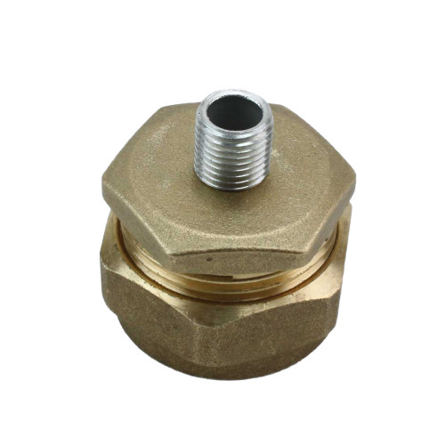 22mm Copper pipe stop end with 10mm allthread [PLU10140]