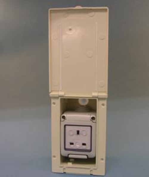 Waterproof 13 Amp Flush Mains Outlet W4 20041