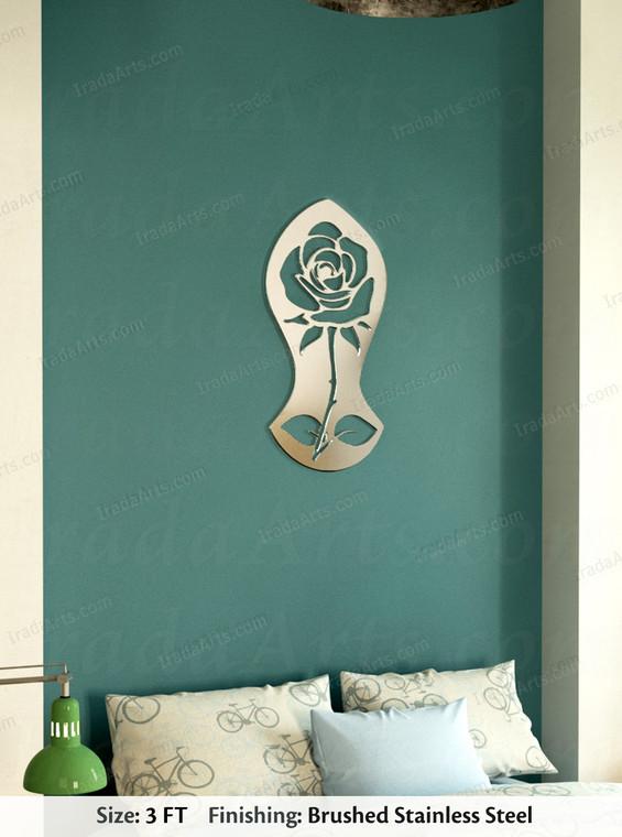 Sandal Rose - Islamic Steel Artwork