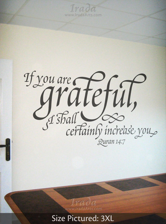If You Are Grateful (Swash) - Decal