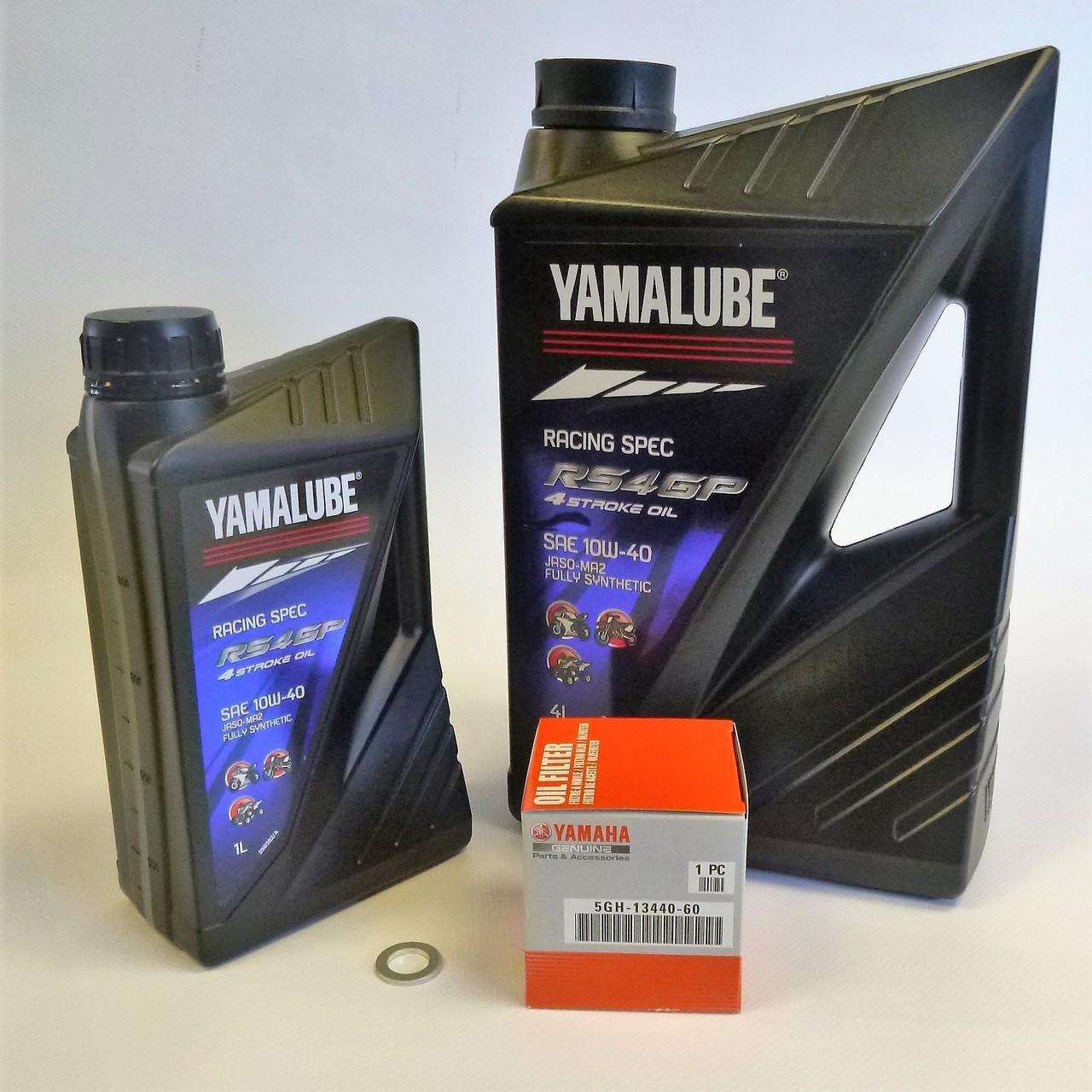 Yamalube 5l RS4GP Racing Oil Service Kit -Yamaha YZF R1 & R1M 2015 on MT-10  2016-