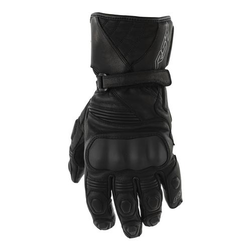 RST GT Leather Motorcycle Gloves -Black