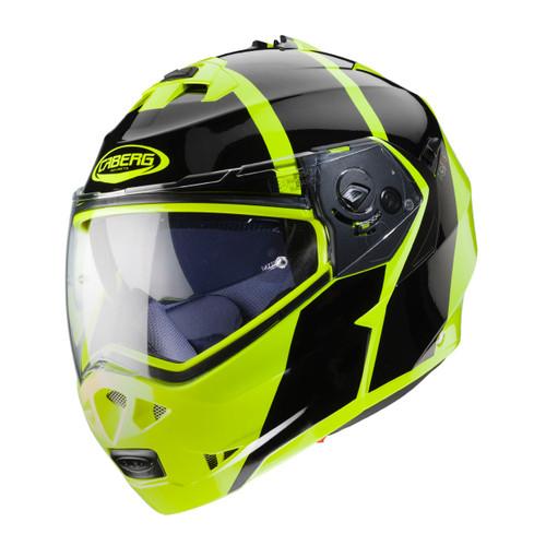 Caberg Duke II Motorcycle Modular Flip Helmet - Impact H4 Gloss Flo Yellow and Black