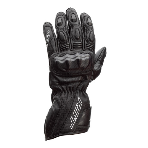 RST Axis Leather Summer Motorcycle Gloves -Black