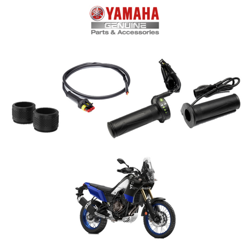 Genuine Yamaha Motorcycle Heated Grips -inc. connector cable for Tenere 700