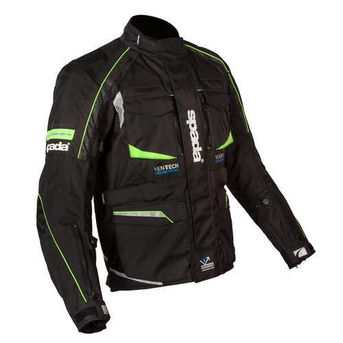 Spada Autobahn CE Textile Motorcycle Jacket Waterproof -  Black