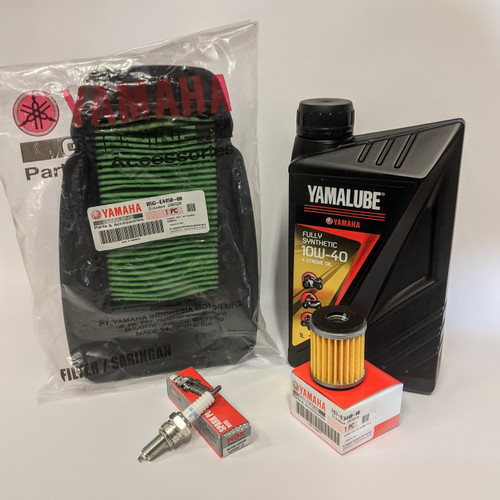 Yamaha YZF-R125 2019- & MT-125 2020- Service Kit - Fully Synthetic Oil, Filters & Plug
