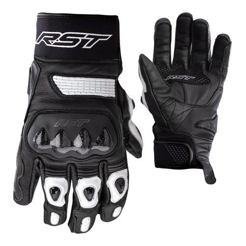RST Freestyle 2 Leather CE Motorcycle Glove - White