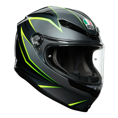 AGV K6 Motorcycle Helmet - Flash, Grey black Flo. Yel