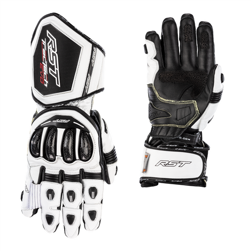 RST Tractech EVO 4 Motorcycle Glove- White