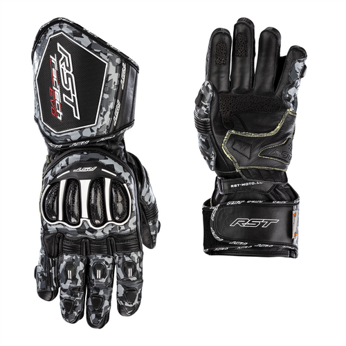 RST Tractech EVO 4 Motorcycle Glove- Grey Camo