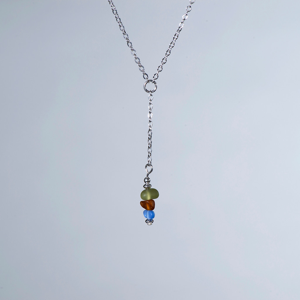 "Beach Glass ""Y"" Necklace"
