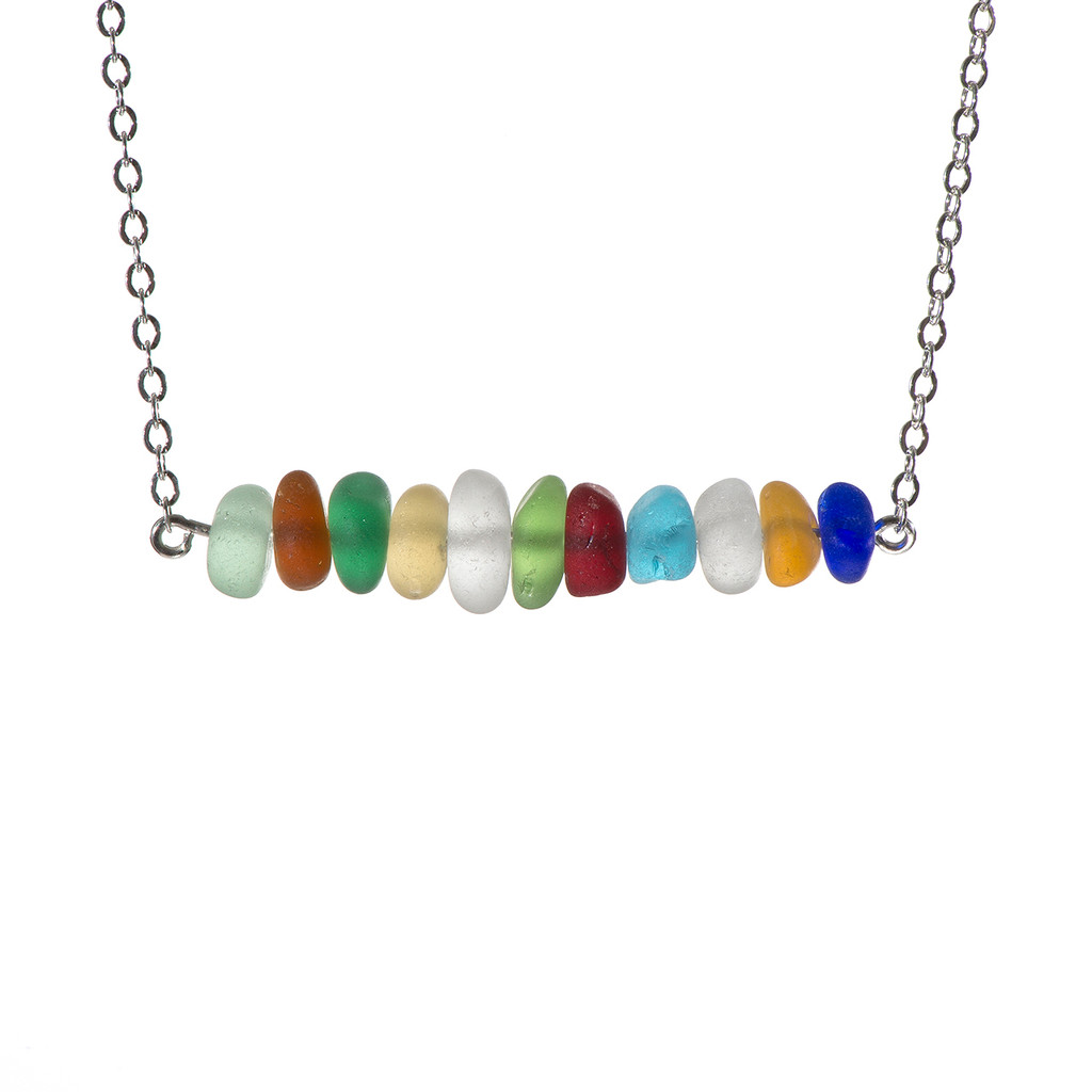 Multi Colored Bar Necklace