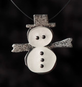 Sterling Backed Snowman