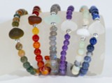 Gemstone and Beach Glass Stretch Bracelets - New Colors Available!