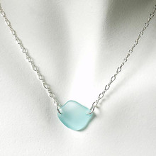 Aqua Glass Laurie Necklace