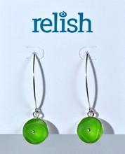 Sterling Silver Riveted Lime Earrings