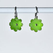 Lime Flower Earrings