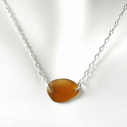 Brown Glass Laurie Necklace
