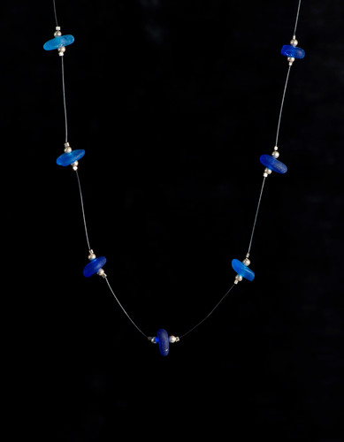 Cobalt Multi Illusion Beach Glass Necklace
