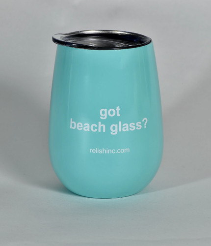 got beach glass? Steel insulated cup