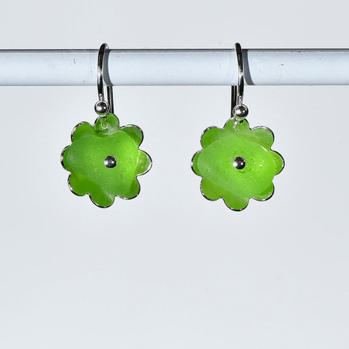 Lime Flower Earrings