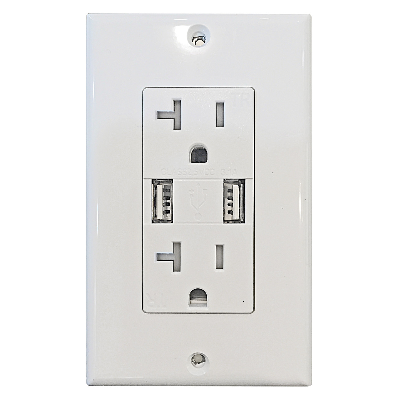NEW 20A Tamper Resistant TR GFCI Outlet Receptacle 20 Amp ALMOND w//LED 1 pc