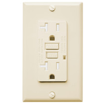 Ground Fault Circuit Interrupter Safelock Protection UL Listed AH Lighting GFCI Outlet 15A Standard Decorative Tamper Resistant Duplex Receptacle with LED Indicator Ivory