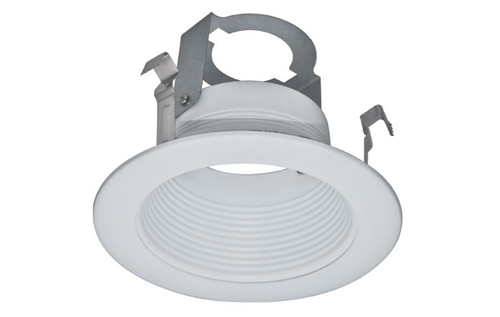 """(SB4/W) Stepped Baffle White for 4"""" Recessed Can"""