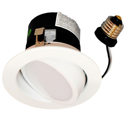 "4"" Recessed downlight fixture solution with integrated LED power supply and thermal management system combined in a single compact unit.  No tools required for installation LED Driver built-in"
