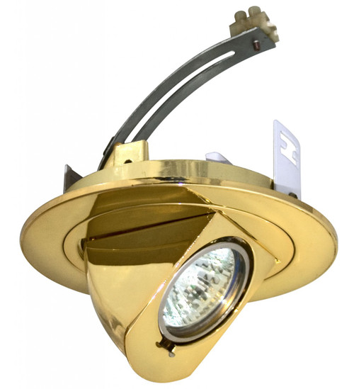 """(RWWL/B) Retractable Wall Wash Brass for 4"""" Low Voltage Recessed Can"""
