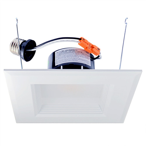 "6"" Recessed downlight fixture solution with integrated LED power supply and thermal management system combined in a single compact unit.  No tools required for installation LED Driver built-in"