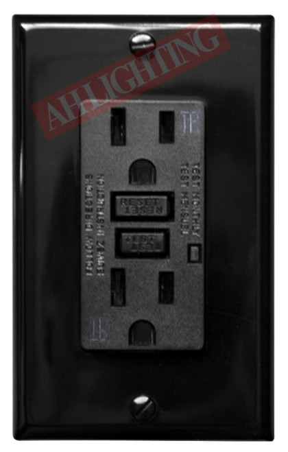 15Amp - 120V AC Tamper Resistant UL Approved Safelock function, the reset button will not engage if protection has been compromised When miswired, GFCI (Ground Fault Circuit Interupter) outlets have no power, so it is more safe than conventional receptacle If miswired or if GFCI protection is damaged, GFCI can't be reset Easier installation