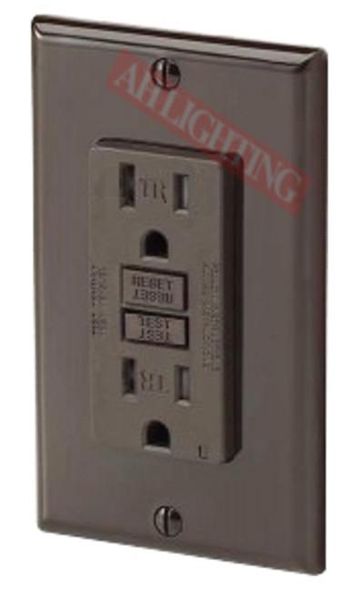 GFCI 15Amp Tamper Resistant UL2008 w/ LED Brown
