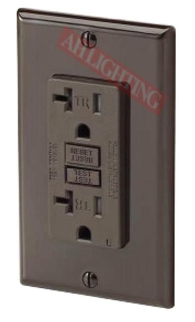 GFCI 20Amp Tamper Resistant UL2008 w/ LED Brown 20Amp - 120V AC Tamper Resistant