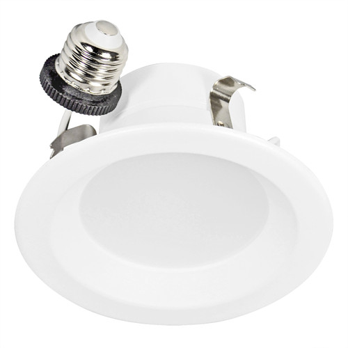 """4"""" Recessed downlight fixture solution with integrated LED power supply and thermal management system combined in a single compact unit"""