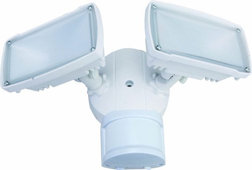 "LED security flood lights are incredibly bright at 1400 lumens, preventing all unwanted activity. Calibrate security with built-in adjustable motion sensitivity, light sensitivity and time delay. The security lights will automatically turn on when sensing light levels or motion in a range of 60 feet at a 270° angle. No bulb replacement is required and includes a spare 1/2"" NPS plug to be used if PIR sensor is removed. Plastic optical lens is protected by gasket lined tempered PC cover and each cone delivers 96 ° degree beam angle even lighting distribution."