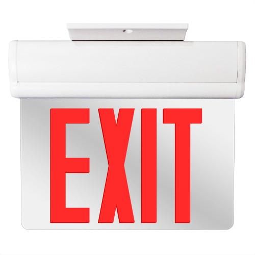 Edge Lit LED Emergency Exit Light Red