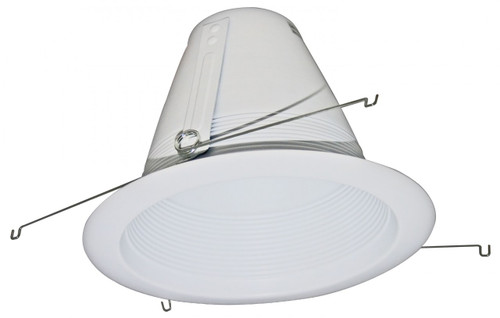 "(SB40/W/AT) Cone Stepped Baffle White for  6"" Recessed Can"