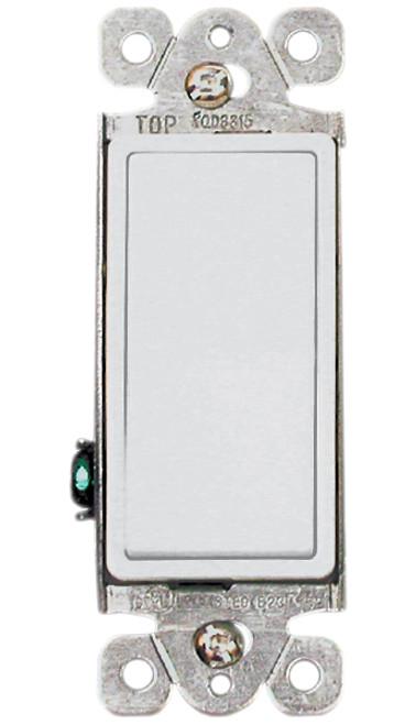 (SDW) Decorative Single Pole Switch 15A White