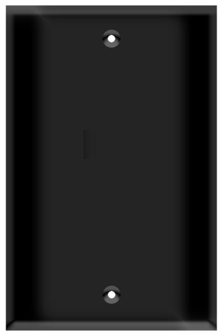 (WBB) Blank Wall Plate 1-Gang Black