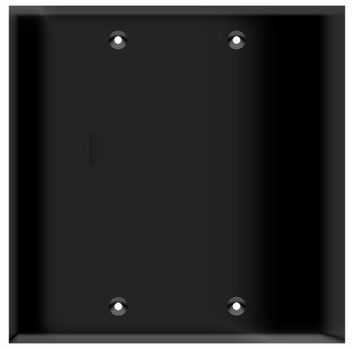 (W2BB) Blank Wall Plate 2-Gang Black