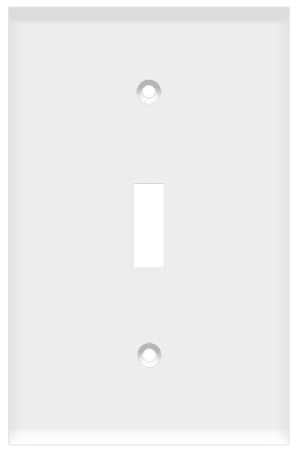 (WSW) Toggle Switch Wall Plate 1-Gang White