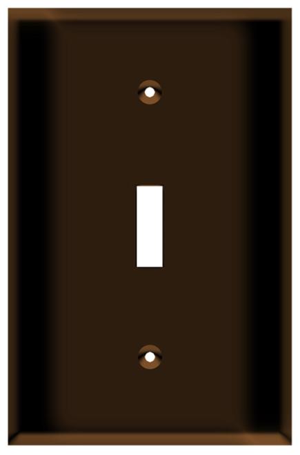 (WSBRN) Toggle Switch Wall Plate 1-Gang Brown
