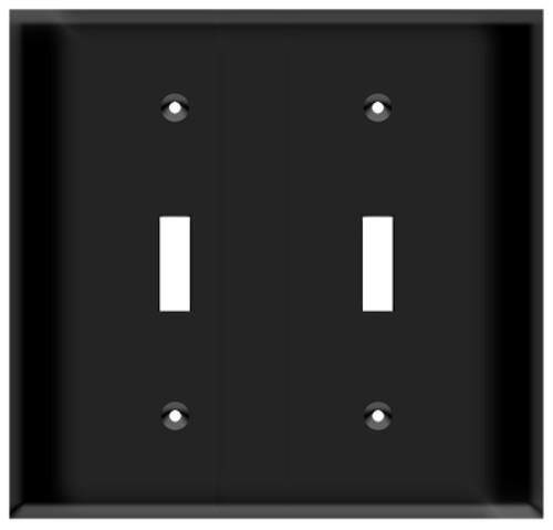(WS2B) Toggle Switch Wall Plate 2-Gang Black