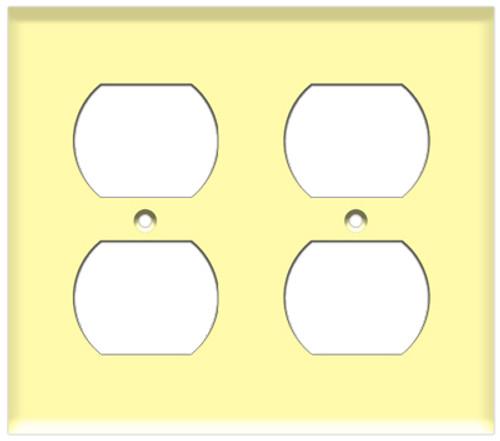 (WR2I) Duplex Receptacle Wall Plate 2-Gang Ivory