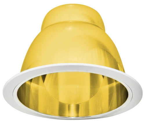 "(PGC) Polished Cone Reflector Gold for 6"" Recessed Can"