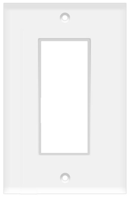 (WDW) Decorative Wall Plate 1-Gang White