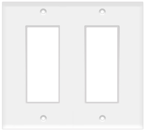 (WD2W) Decorative Wall Plate 2-Gang White